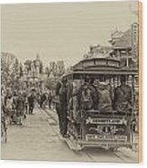 Trolley Car Main Street Disneyland Heirloom Wood Print