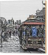 Trolley Car Main Street Disneyland Sc Wood Print