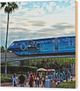 Tron Monorail At Walt Disney World Wood Print by Thomas Woolworth