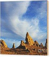 Trona Pinnacles California Wood Print