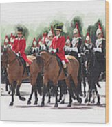 Trooping Of The Colour Wood Print