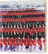 Trooping The Colour Wood Print
