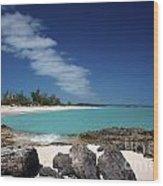 Tropic Of Cancer Beach Exuma Bahamas Wood Print