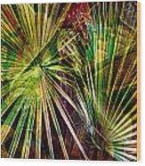 Tropical Abstract Wood Print