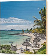 Tropical Beach II. Mauritius Wood Print