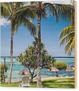 Tropical Beach. Mauritius Wood Print
