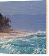 Tropical Beach Oahu Hawaii Wood Print