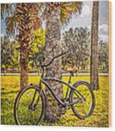 Tropical Bicycle Wood Print
