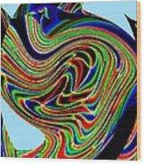Tropical Bird Trio Wood Print