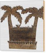 Tropical Business Card Holder Wood Print by Lee Serenethos
