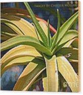 Tropical Cactus Wood Print