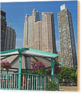 Tropical Chicago Wood Print