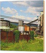 Tropical Distillery Wood Print