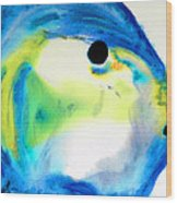 Tropical Fish 3 - Abstract Art By Sharon Cummings Wood Print