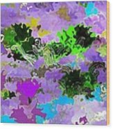 Tropical Fish Abstraction Wood Print