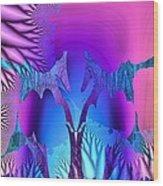 Tropical Fractal Wood Print