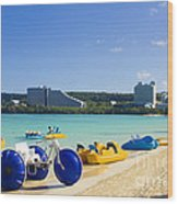 Tropical Fun At The Beach In Tumon Bay Guam Wood Print