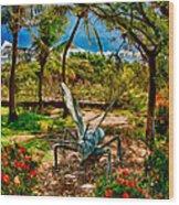 Tropical Garden Wood Print