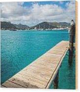 Tropical Harbor Wood Print