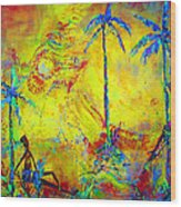 Tropical Heat Wave Wood Print