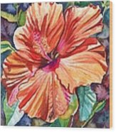 Tropical Hibiscus 5 Wood Print