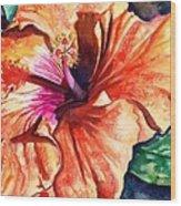 Tropical Hibiscus Wood Print