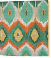 Tropical Ikat II Wood Print