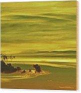 Tropical Isle In The Sky Wood Print