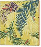 Tropical Jungle Floral Seamless Pattern Wood Print