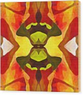 Tropical Leaf Pattern 1 Wood Print