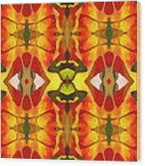 Tropical Leaf Pattern 4 Wood Print