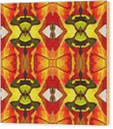 Tropical Leaf Pattern 7 Wood Print