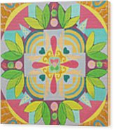 Tropical Mandala Wood Print