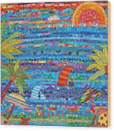 Tropical Moments Wood Print by Susan Rienzo
