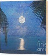 Tropical Moonglow Wood Print