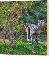 Tropical Mountain Lion Wood Print