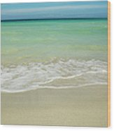 Tropical Ocean Beach Wood Print