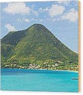 Tropical Panorama In The Caribbean Wood Print