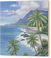 Tropical Paradise 2 Wood Print by John Zaccheo