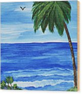 Tropical Path Wood Print