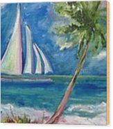 Tropical Sails Wood Print