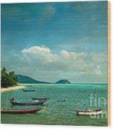 Tropical Seas Wood Print