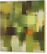Tropical Shades - Green Abstract Art Wood Print