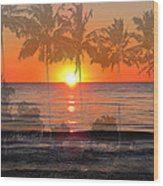 Tropical Spirits - Palm Tree Art By Sharon Cummings Wood Print
