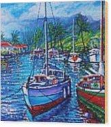 Tropical Splender Wood Print