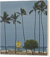 Tropical Storm Flossie Kapukaulua Beach Paia Maui Hawaii 2013 Wood Print