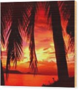 Tropical Sunset - Thailand Wood Print