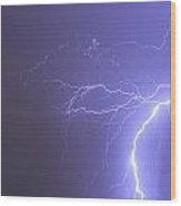 Tropical Thunderstorm Night  Wood Print