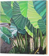 Tropical Translucence Wood Print