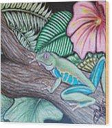 Tropical Tree Frog Wood Print